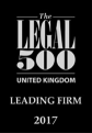 The Legal 500 United Kingdom - Leading Firm 2017