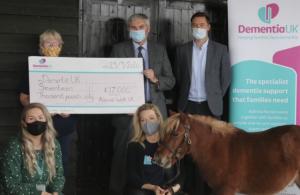 Money raised for Dementia UK